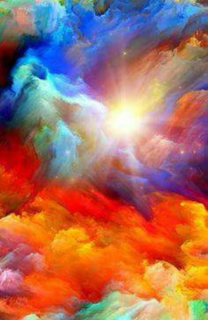Les couleurs de la joie : l'air (nacre-rose-cuivre-jaune-orange-parme-sable-vert-bleu)