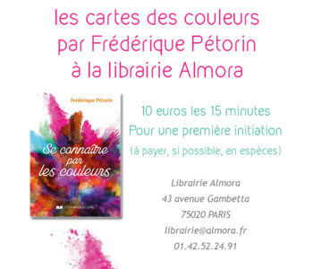Rendez-vous samedi 26 mai à la librairie Almora métro Gambetta