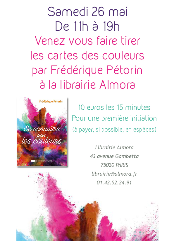 You are currently viewing Rendez-vous samedi 26 mai à la librairie Almora métro Gambetta